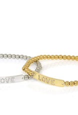 Love Tag Bead Bracelet