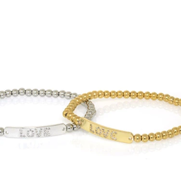 Love Tag Bead Bracelet