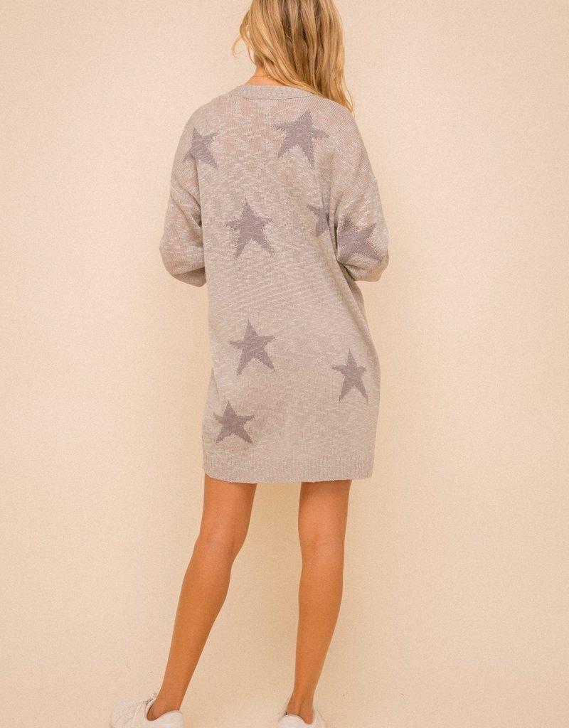 Star Cardigan Grey