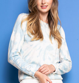 Be Kind Tie Dye Sweater Blue