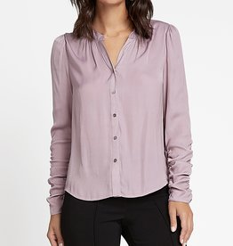 Cinched Sleeve LS Blouse