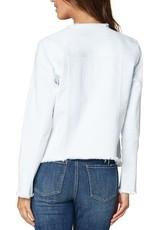 Classic Jean Jacket w/ Fray Hem White