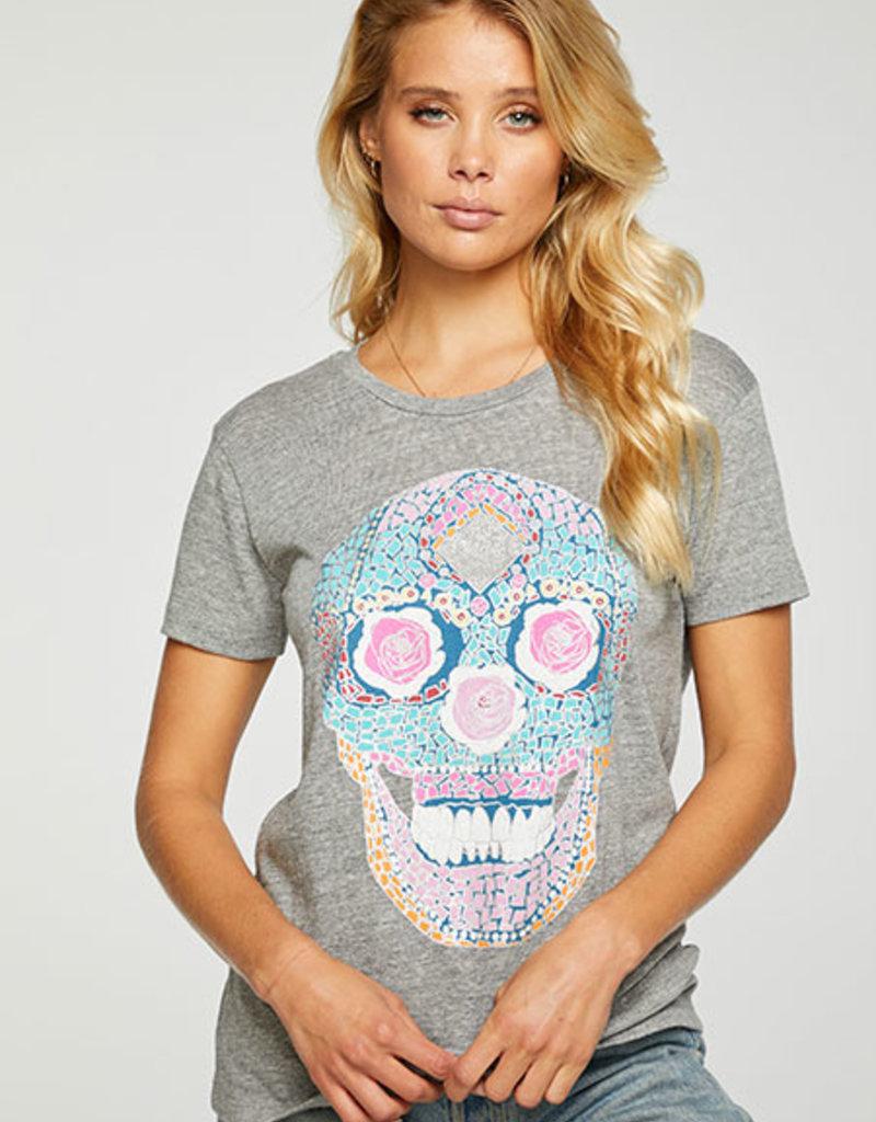 Sugar Skull Tee Shirt Grey