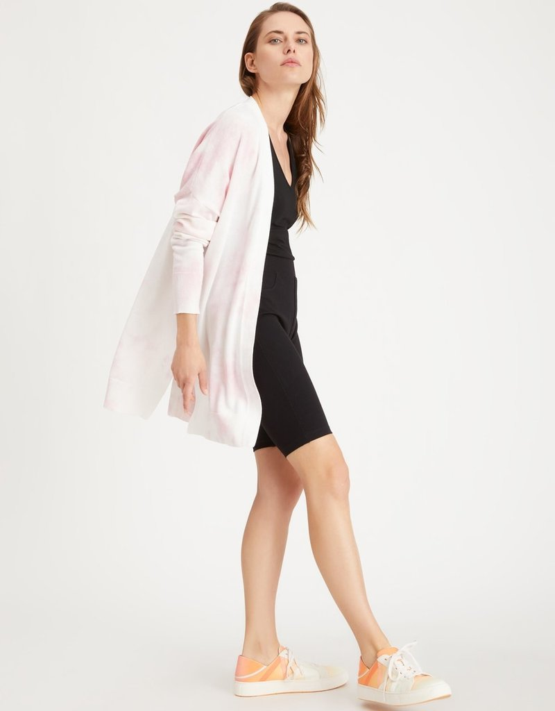 Easy Breezy Cardi Pink Tie Dye