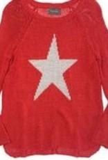 Star Raglan Crew Red/Driftwood