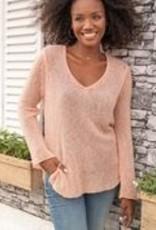 Shirt Tail V Lightweight Sweater
