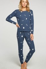 Football Long Sleeve Pullover Blue