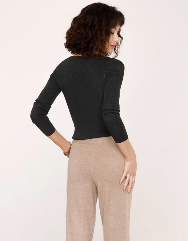 Diane Asymmetrical Sweater Black