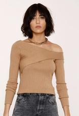Odessa Off Shoulder Sweater Camel