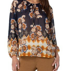 Shirred Blouse Floral