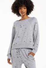 Sleep Over Skull Sweatshirt Grey