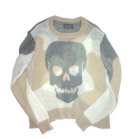 Reverse Camo Skull Crew Grey