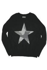Camo Star Raglan Crew Black