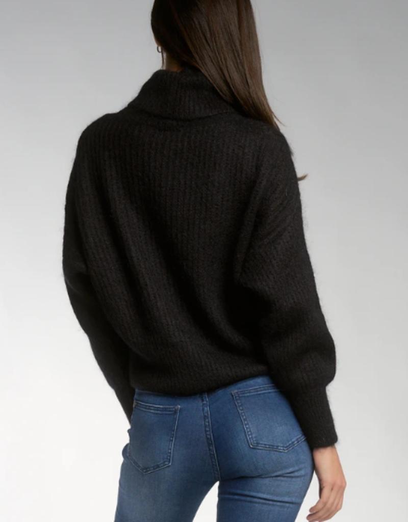 Turtleneck Long Sleeve Sweater Black