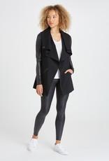 Drape Front Jacket Black