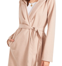 Hood For Thought Coat Taupe