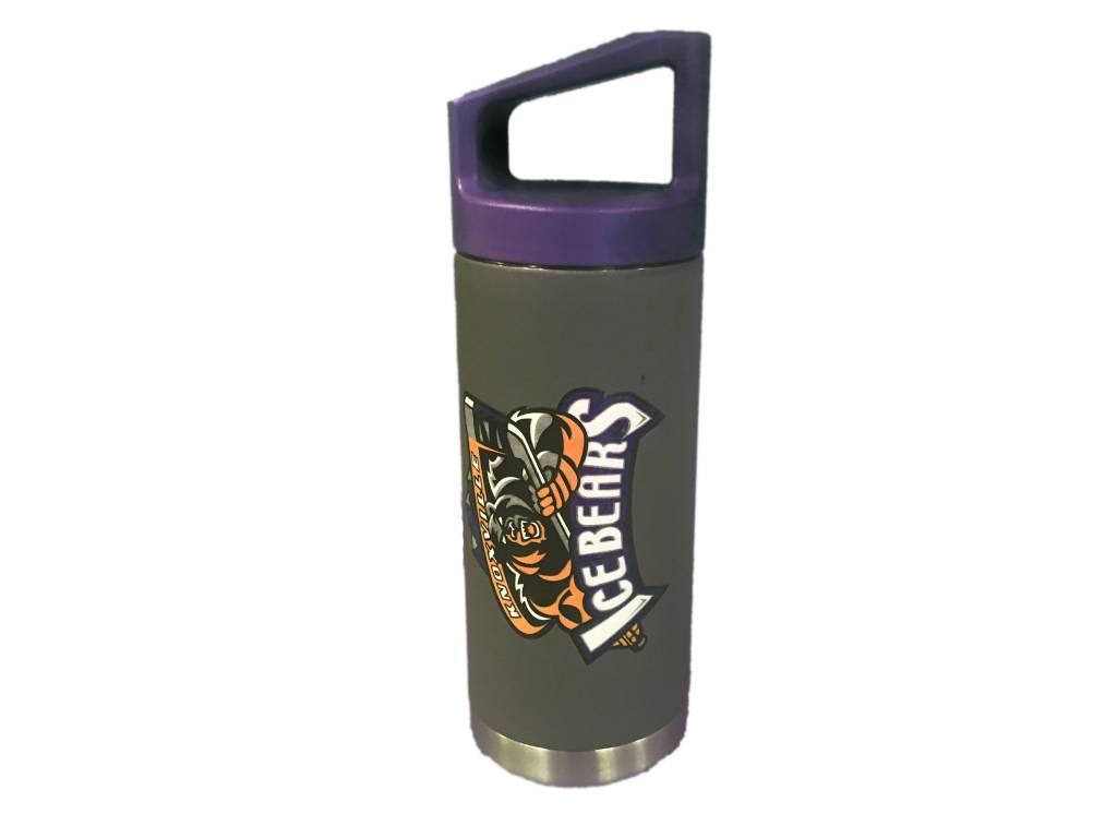 GameTime Sidekicks 16 oz Black Metal Water Bottle with Logo
