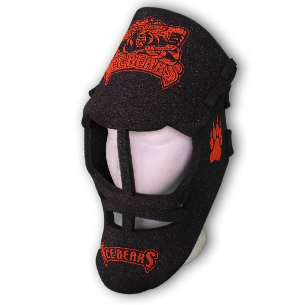 I. S. A. Goalie Mask Foam Black with Orange