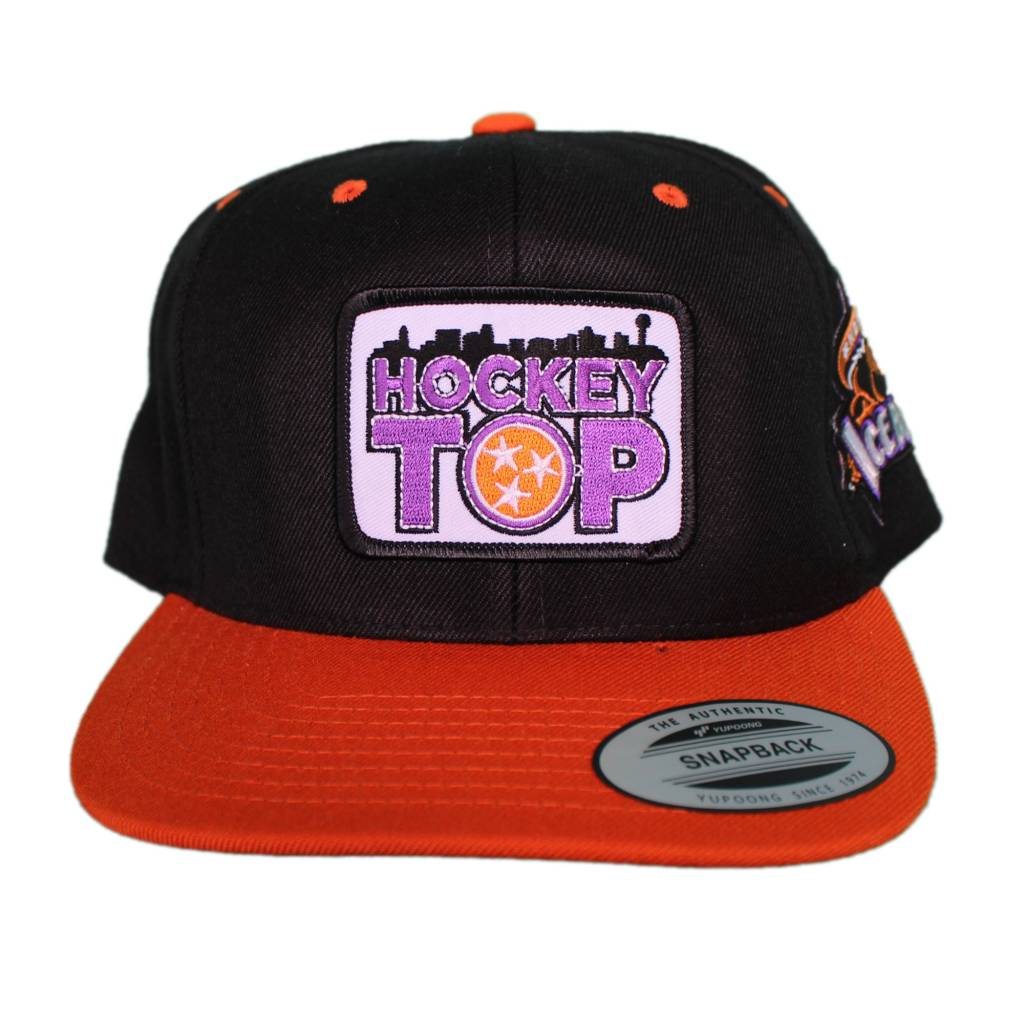 Sport-Tek Hockey Top Black/Orange Hats