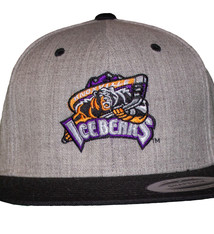 Yupoong Heather Grey/Black KIB Logo Flat Bill Hat
