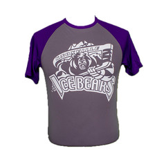 KIB Grey/Purple Baseball Short Sleeve Tee