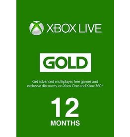 X360 XBOX 12 MONTH SUBSCRIPTION CARD