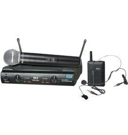 SKY SKY SDM-5504 UHF System 1 Handheld 1 Lavalier & Headset / AA Batteries