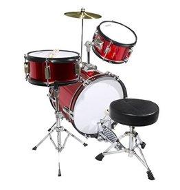 ADW 3 PC Jr Drum Set W/Cymbal Red Sparkle