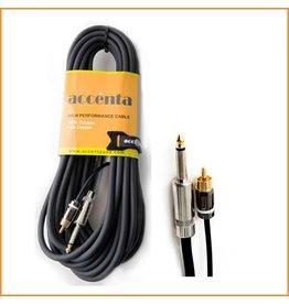 "Accenta Accenta ACC788 RCA Male to 1/4"" Make 6 Feet"