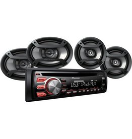 "JVC JVC PKG W/KD-R480 & CS-J620 300W 2Way 6.5"" Speaker"