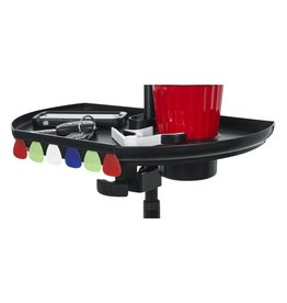 Gator Gator GFW-MICACCTRAYXL Microphone Stand Tray Extra Large with Drink Holder and Guitar Pick Tab