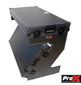 Pro X Pro X XS-ZTABLE BL MK2 z shape table with wheels black on black