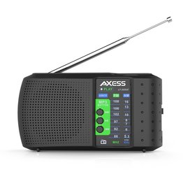 Axess Axess PR3206 2 Band Personal AM/FM Radio, SD, USB Rechargeabel