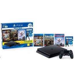 PS4 PS4 Mega Pack Bundle w/ GTA V, Days Gone, Horizon Zero Dawn & Fortnite