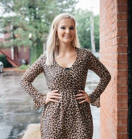 Everly Leopard Long-sleeved Dress