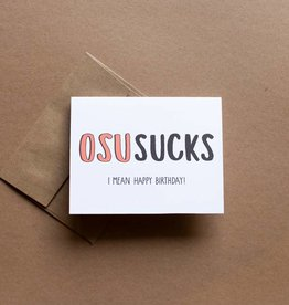 OSU Sucks Card