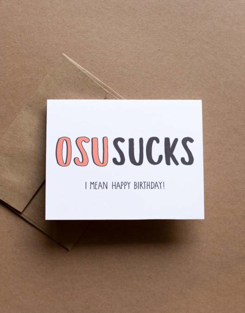 OSU Sucks Card