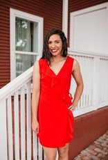Everly Cherry Red Dress