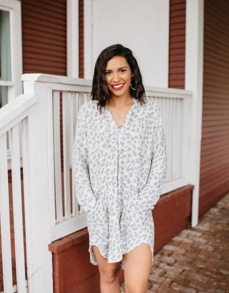 Leopard Shirt Dress
