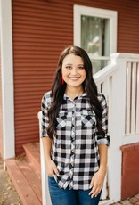 Black and White Check Flannel
