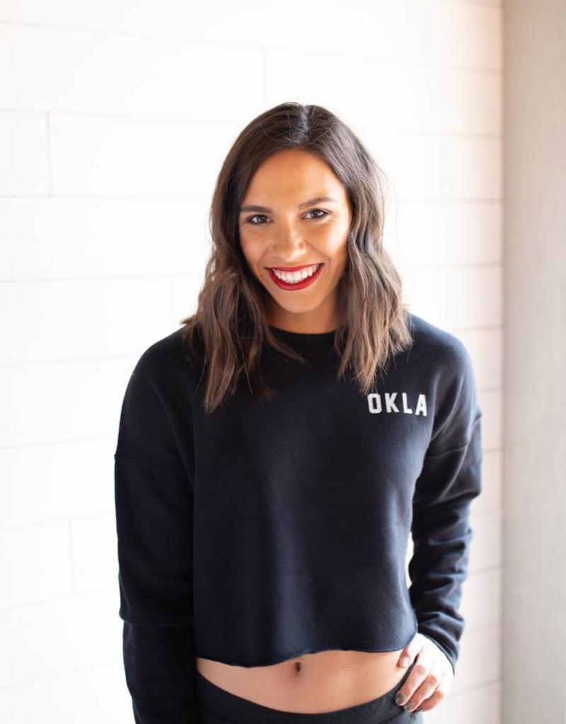 OKLA Cropped Sweatshirt Black