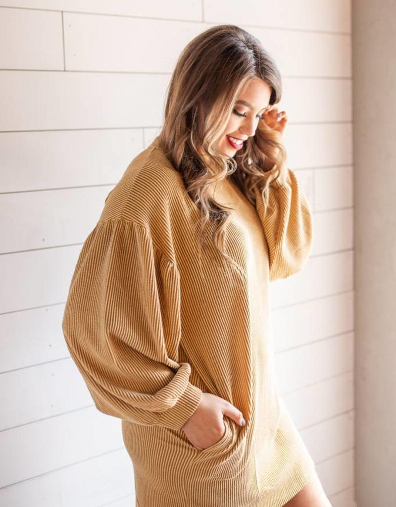 HYFVE Mustard Cord Dress