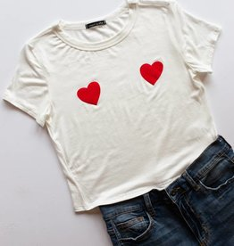 Double Heart Graphic Tee