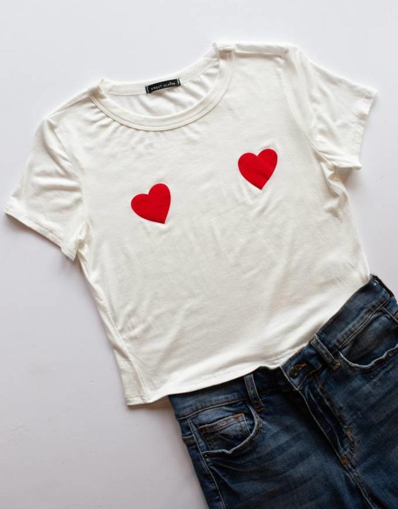 Double Heart Graphic Tee