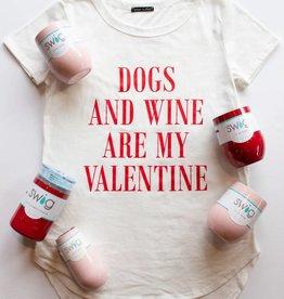 Dogs & Wine Valentine Tee