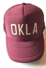 OKLA Maroon foam hat