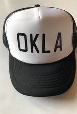 OKLA White w/ black foam hat