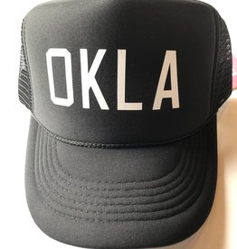 OKLA Black w/ white foam hat