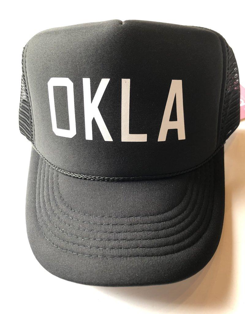 OKLA Black w/ white foam hat