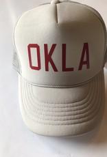 OKLA Cream w/ red foam hat